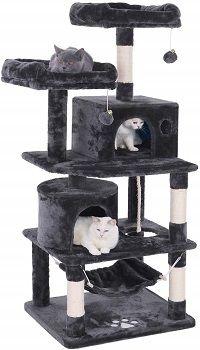 Bewishome Cat Tree Condo Furniture Kitten Activity Tower MMJ01