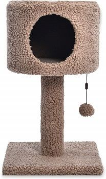 Cat Craft Perch Condo Tan Sherpa