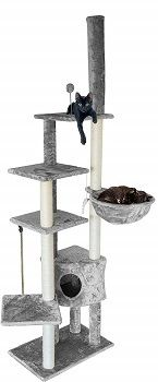 FurhavenTiger Tough Cat Tree Skyscraper Playground - Floor to Ceiling review