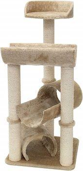 Majestic Pet 44-inch Furniture Condo House Scratcher Multi-Level Cat Tree