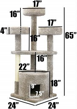 Prestige Cat Trees 130014-Neutral Main Coon Cat House Cat Tree review