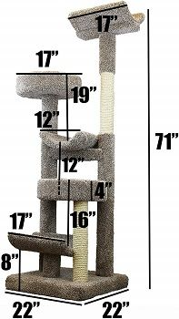 Prestige Cat Trees 130098-Neutral Staggered Cat Tower Cat Tree review