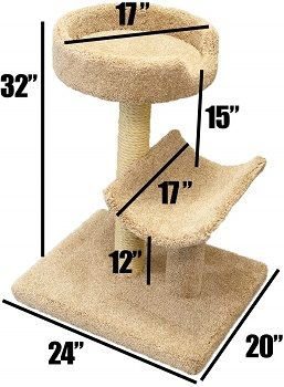 Prestige Cat Trees Beige Kitty Condo, Large review