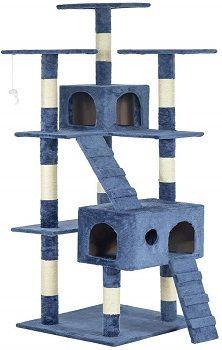 BestPet New Navy Blue 72 inch Cat Tree