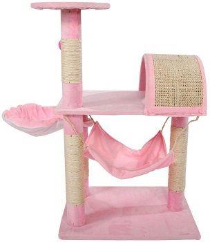 Bulary Pink Cat Tree