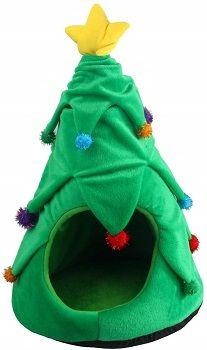 Pawise Kitten Christmas Tree House