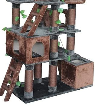 Kitty Mansions Big Horn Cat Tree review